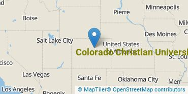 Location of Colorado Christian University