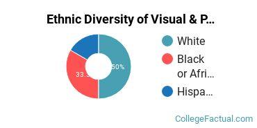 Ethnic Diversity of Visual & Performing Arts Majors at Colorado Christian University