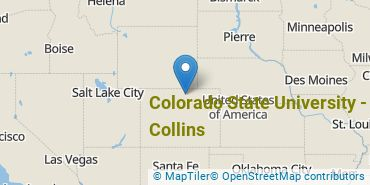 Location of Colorado State University - Fort Collins