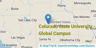 Location of Colorado State University - Global Campus