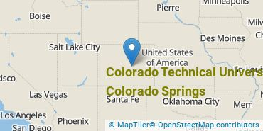 Location of Colorado Technical University - Colorado Springs