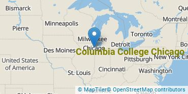 Location of Columbia College Chicago
