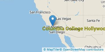 Location of Columbia College Hollywood