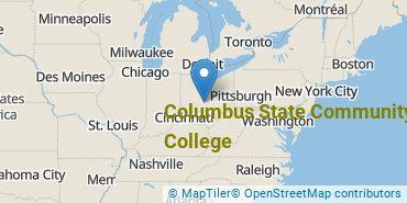 Location of Columbus State Community College