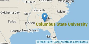 Location of Columbus State University