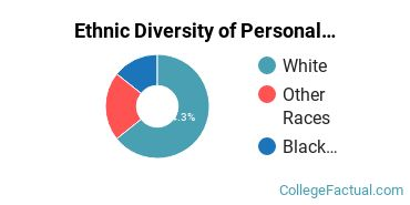 Ethnic Diversity of Personal & Culinary Services Majors at Commonwealth Technical Institute