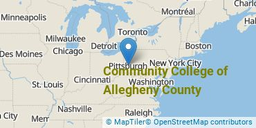 Location of Community College of Allegheny County