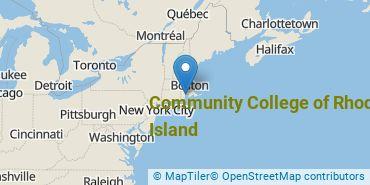 Location of Community College of Rhode Island