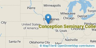 Location of Conception Seminary College