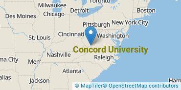Location of Concord University