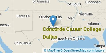 Location of Concorde Career College - Dallas