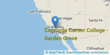 Location of Concorde Career College - Garden Grove