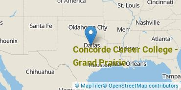 Location of Concorde Career College - Grand Prairie