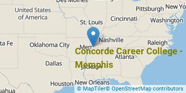 Location of Concorde Career College-Memphis
