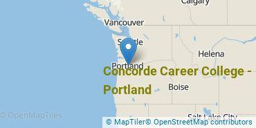 Location of Concorde Career College - Portland