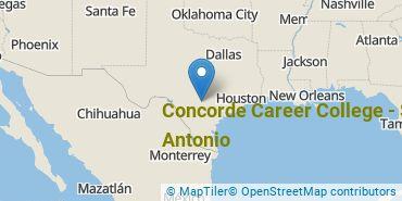 Location of Concorde Career College - San Antonio