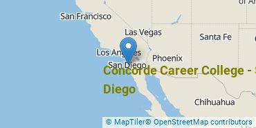 Location of Concorde Career College - San Diego