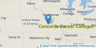 Location of Concorde Career Colleges