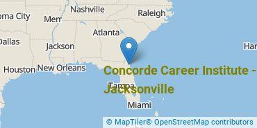 Location of Concorde Career Institute - Jacksonville