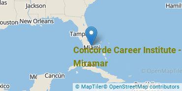 Location of Concorde Career Institute-Miramar