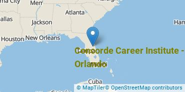 Location of Concorde Career Institute - Orlando
