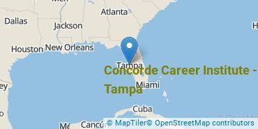 Location of Concorde Career Institute-Tampa