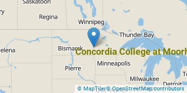 Location of Concordia College at Moorhead
