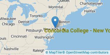 Location of Concordia College - New York