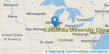 Location of Concordia University, Chicago