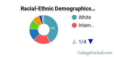 Concordia University, Chicago Graduate Students Racial-Ethnic Diversity Pie Chart
