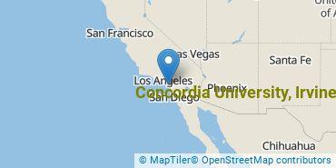 Location of Concordia University, Irvine
