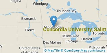 Location of Concordia University, Saint Paul