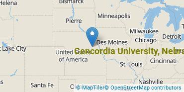 Location of Concordia University, Nebraska
