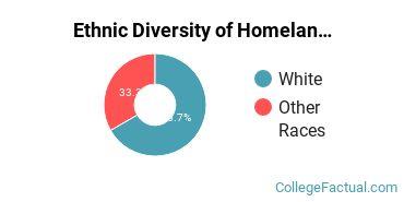 Ethnic Diversity of Homeland Security, Law Enforcement & Firefighting Majors at Concordia University, Nebraska