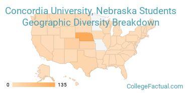 Where are Concordia University, Nebraska Students From?