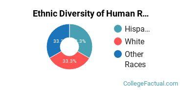 Ethnic Diversity of Human Resource Management Majors at Concordia University - Texas