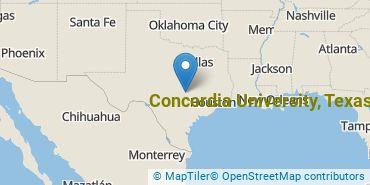 Location of Concordia University, Texas