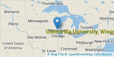 Location of Concordia University - Wisconsin