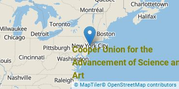 Location of Cooper Union for the Advancement of Science and Art