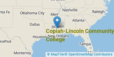 Location of Copiah-Lincoln Community College