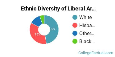 Ethnic Diversity of Liberal Arts / Sciences & Humanities Majors at Copper Mountain Community College