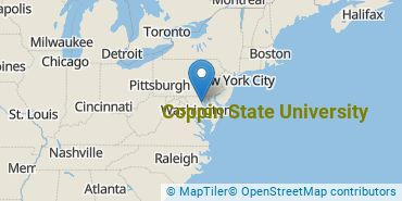 Location of Coppin State University