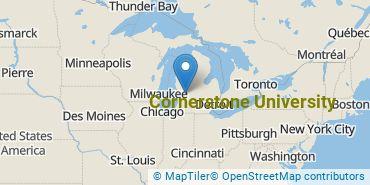 Location of Cornerstone University