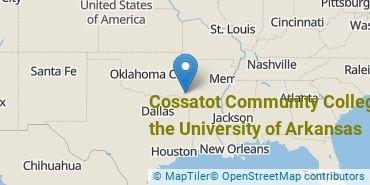 Location of Cossatot Community College of the University of Arkansas