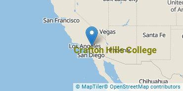 Location of Crafton Hills College