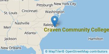 Location of Craven Community College