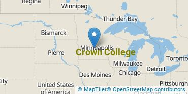 Location of Crown College