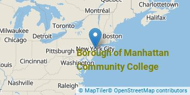 Location of CUNY Borough of Manhattan Community College