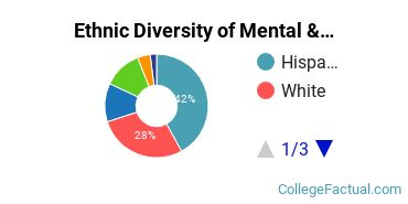 Ethnic Diversity of Mental & Social Health Services Majors at CUNY Hunter College