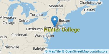 Location of CUNY Hunter College